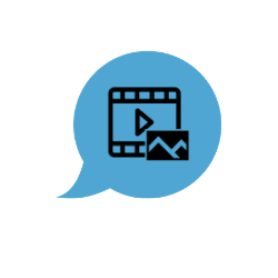Illustration of content marketing, video clip and image file