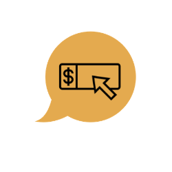 Illustration of online advertising payments being received