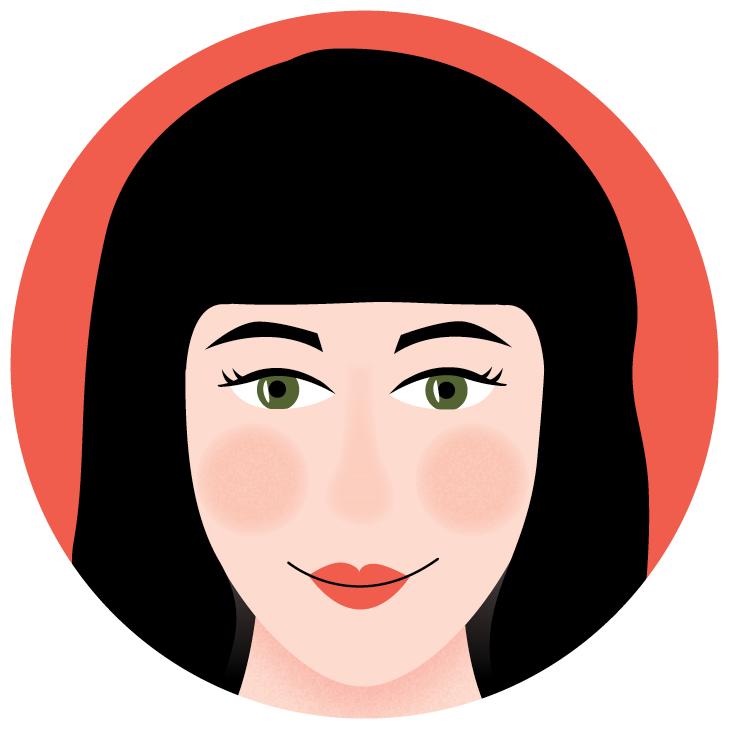 Illustration of Saltoria Marketing company co-owner Sally